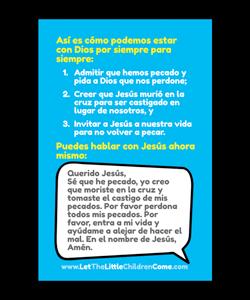 salvation bracelet spanish instructions back