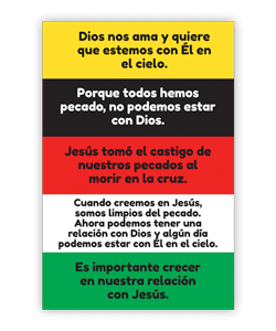 salvation bracelet spanish instructions front