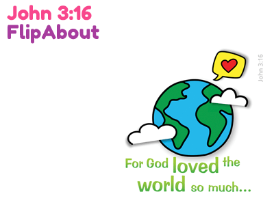 Child Evangelism Tool - John 3:16 FlipAbout