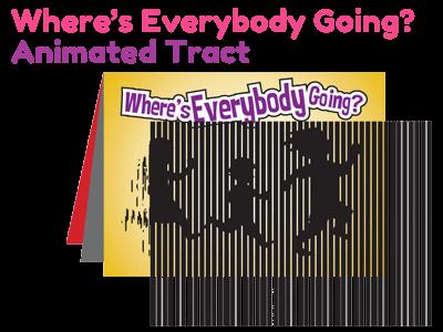 Children's Gospel Tract - Where's Everybody Going?