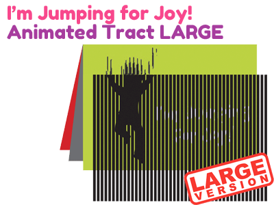 Large Children's Tract - I'm Jumping for Joy