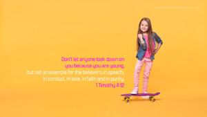 Bible Verses About Children Desktop Wallpaper 1 Timothy 4-12 Thumbnail