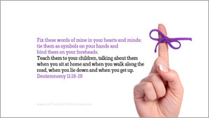 Bible Verses About Children Desktop Wallpaper Deuteronomy 11-18-19 Thumbnail