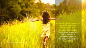 Bible Verses About Children Desktop Wallpaper Mark 10-14-15 Thumbnail