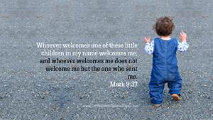 Bible Verses About Children Desktop Wallpaper Mark 9-37 Thumbnail