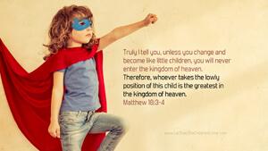 Bible Verses About Children Desktop Wallpaper Matthew 18-3-4 Thumbnail