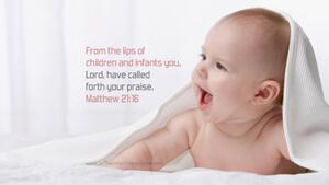 Bible Verses About Children Desktop Wallpaper Matthew 21-16 Thumbnail
