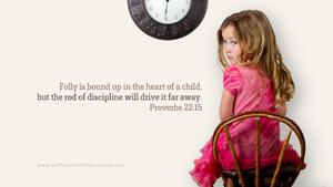Bible Verses About Children Desktop Wallpaper Proverbs 22-15 Thumbnail