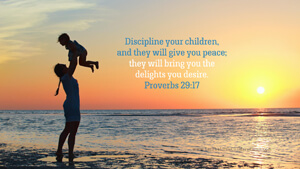 Bible Verses About Children Desktop Wallpaper Proverbs 29-17 Thumbnail