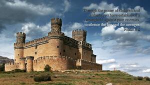 Bible Verses About Children Desktop Wallpaper Psalm 8-2 Thumbnail