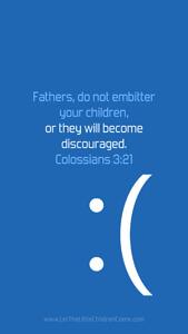 Bible Verses About Children Mobile Wallpaper Colossians 3-21 Thumbnail