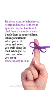 Bible Verses About Children Mobile Wallpaper Deuteronomy 11-18-19 Thumbnail