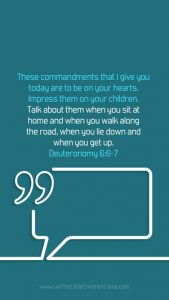 Bible Verses About Children Mobile Wallpaper Deuteronomy 6-6-7 Thumbnail