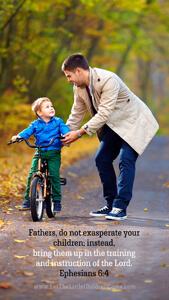 Bible Verses About Children Mobile Wallpaper Ephesians 6-4 Thumbnail