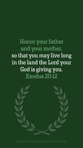 Bible Verses About Children Mobile Wallpaper Exodus 20-12 Thumbnail