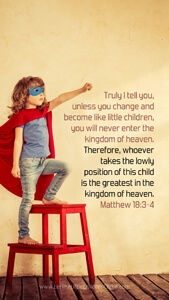 Bible Verses About Children Mobile Wallpaper Matthew 18-3-4 Thumbnail