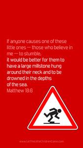 Bible Verses About Children Mobile Wallpaper Matthew 18-6 Thumbnail