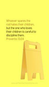 Bible Verses About Children Mobile Wallpaper Proverbs 13-24 Thumbnail