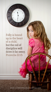 Bible Verses About Children Mobile Wallpaper Proverbs 22-15 Thumbnail
