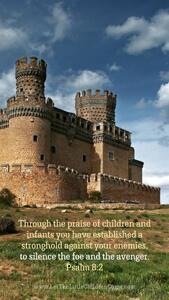 Bible Verses About Children Mobile Wallpaper Psalm 8-2 Thumbnail